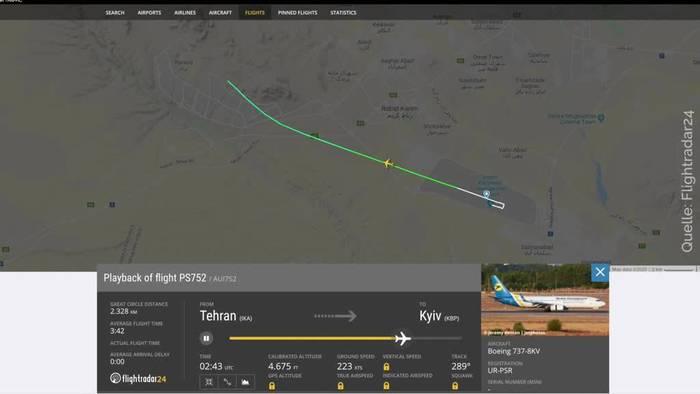 Video: Iran: Abschuss von Flugzeug vermutet - Untersuchungen laufen