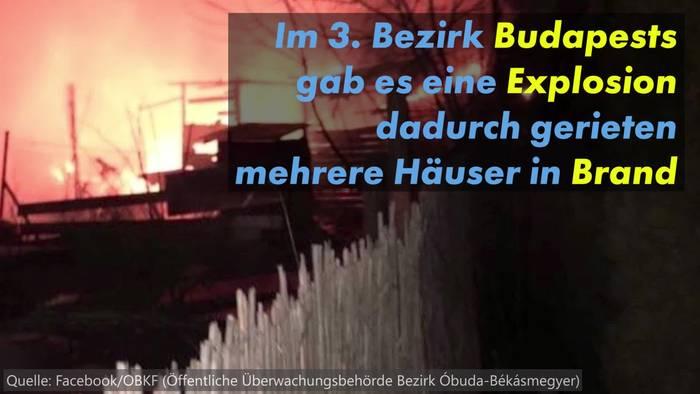 Video: Großeinsatz Budapest: Mehrere Häuser in Flammen!