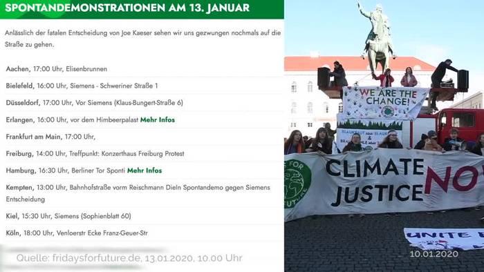 News video: Empörung nach Siemens Festhalten an Kohlebergwerksauftrag