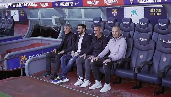 News video: Aus dem Vorruhestand ins Camp Nou: FC Barcelona präsentiert Trainer Sequién (61)