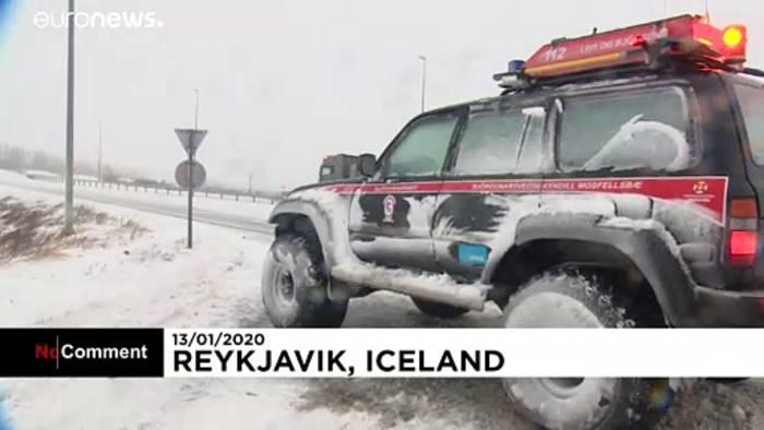 Video: Schneechaos in Island