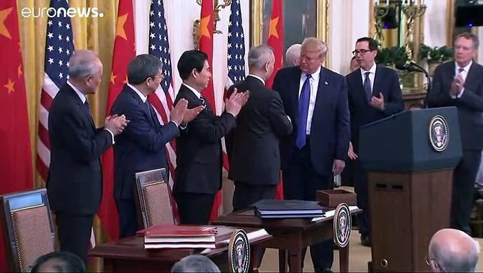 News video: Waffenstillstand nach zwei Jahren Handelskrieg: USA und China schliessen Abkommen