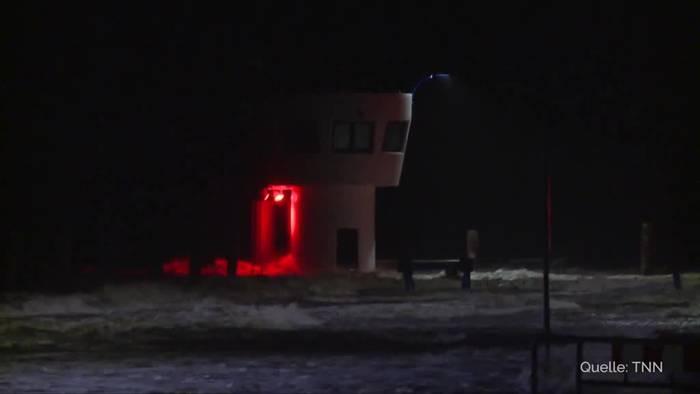 News video: Tief «Gerlinde»: Sturmflut in Nordfriesland