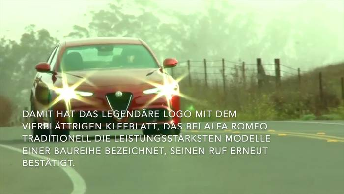 "News video: Alfa Romeo Giulia Quadrifoglio in Großbritannien erneut zum ""Performance Car of the Year"