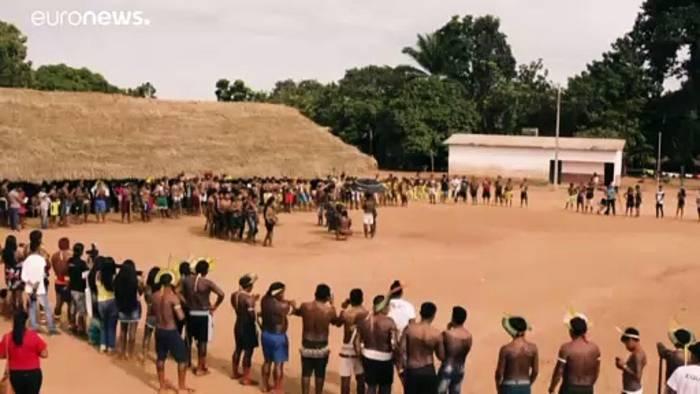 News video: Brasilien: Tellerlippen gegen Umweltpolitik von Präsident Bolsonaro