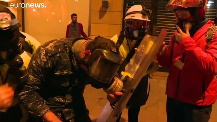 News video: Regierungskrise im Libanon: Proteste und Ausschreitungen