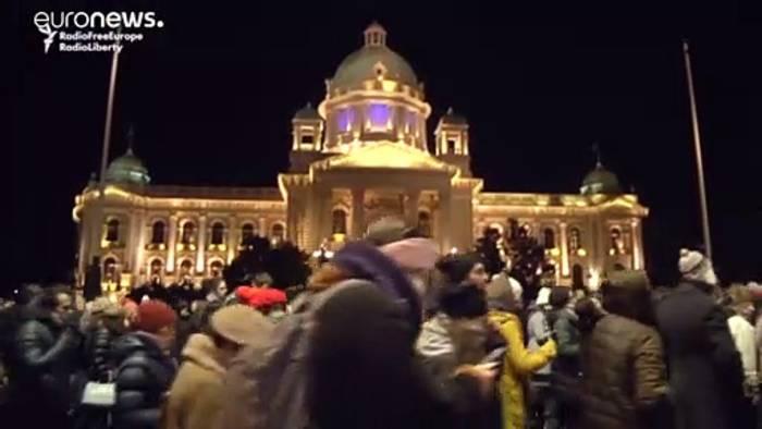 News video: Belgrad: Protest gegen Winter-Smog auf dem Balkan