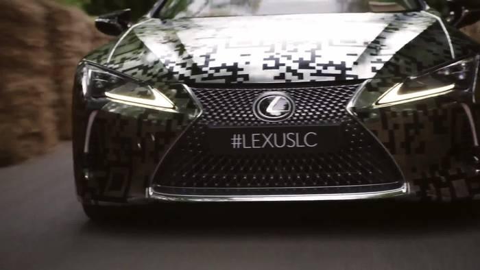 News video: Lexus LC Cabriolet - Prototyp wird auf dem Goodwood Festival of Speed enthüllt