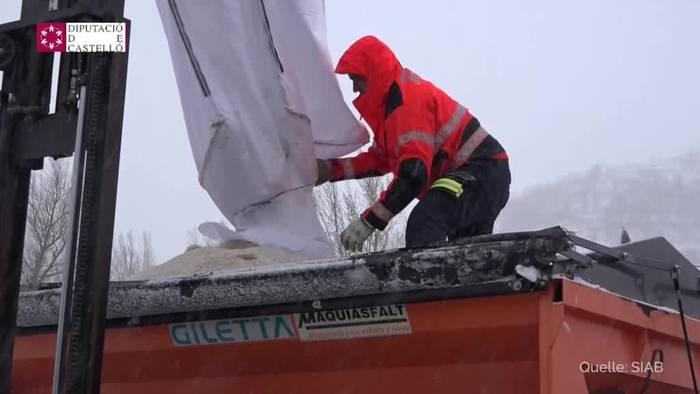 Video: Zwei Tote: Sturmtief «Gloria» wütet in Ostspanien