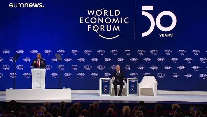 Video: Trump in Davos im Wahlkampfmodus
