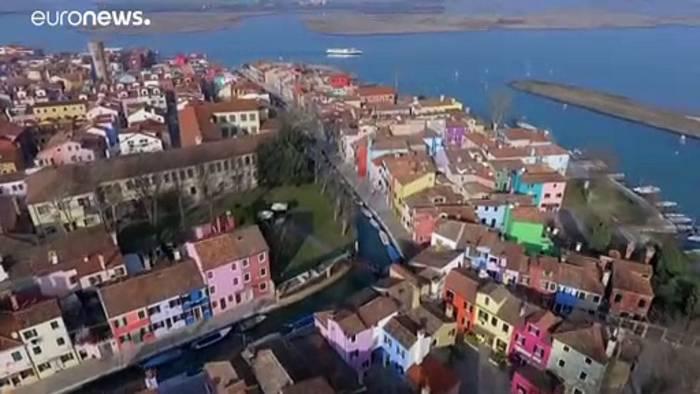 Video: Insel in der Lagune von Venedig: Bevölkerung auf Burano schwindet