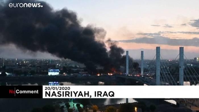 News video: Gewaltsame Demonstrationen in Bagdad