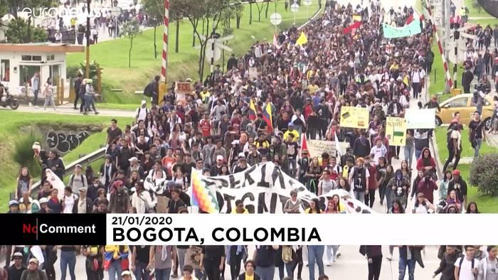 Video: Kolumbien: Ausschreitungen bei regierungskritischen Protesten in Bogota