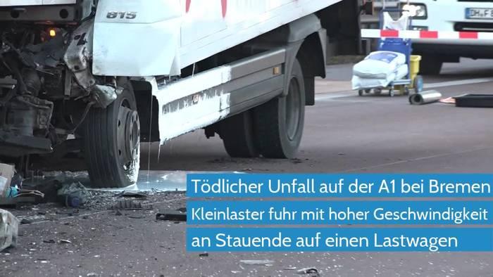 Video: Unfalltod auf der A1 - am Stauende erneut schwerer Unfall