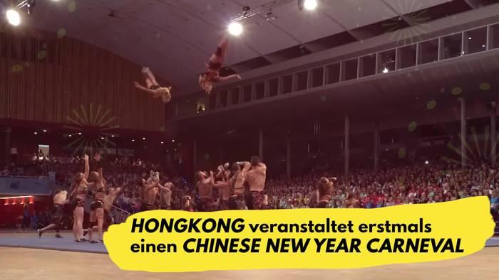 Video: Hongkong feiert den Chinese New Year Carnival!