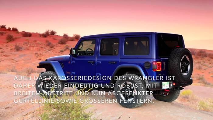 News video: Der neue Jeep® Wrangler - Modernes, authentisches Wrangler-Design