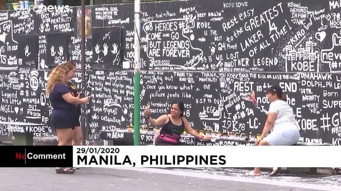 News video: Kunstwerk in Manila: Kobe Bryant überlebensgroß auf Basketballplatz