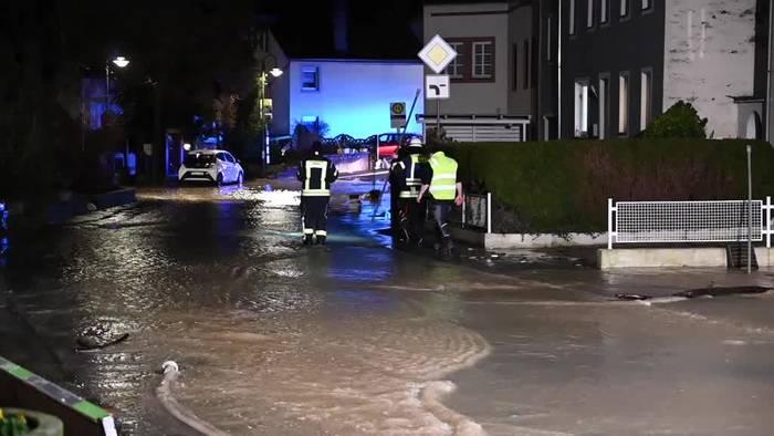 Video: Dauerregen im Südwesten: Dorf überschwemmt