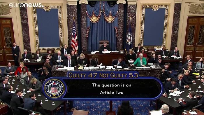 News video: Senat spricht Trump in Impeachmentverfahren von allen Vorwürfen frei
