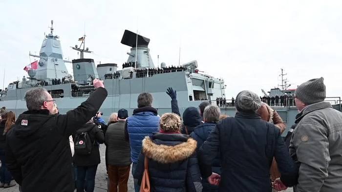 Video: Fregatte «Hamburg» ist zurück im Heimathafen