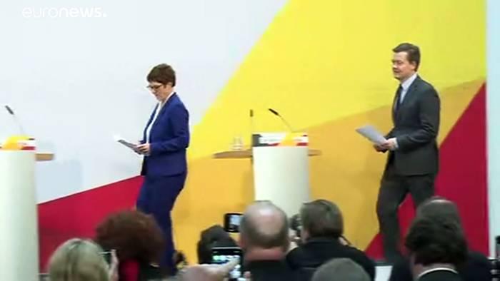 News video: Merkel zu AKK-Rückzug:
