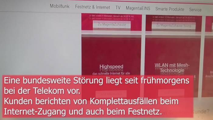 News video: Bundesweit: Störungen und Ausfall von Internet und Telefon!