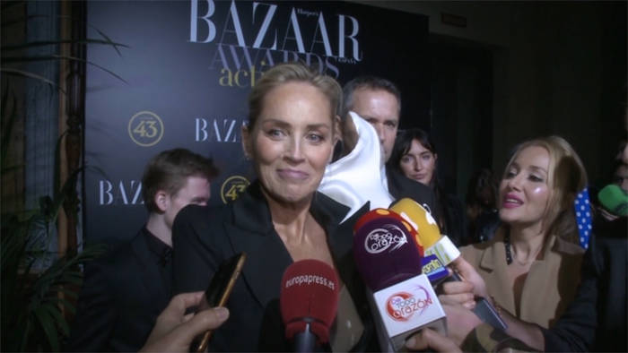 News video: Sharon Stone: In Liebesdingen vertraut sie auf Elton John