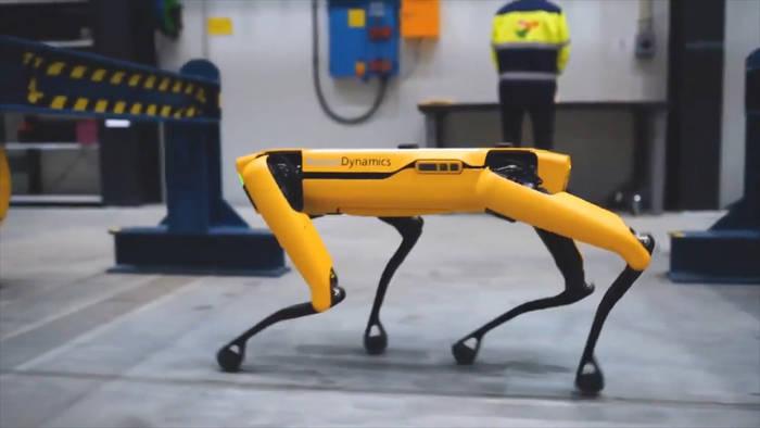 News video: Dieser vierbeinige Roboter arbeitet auf einer Ölplattform