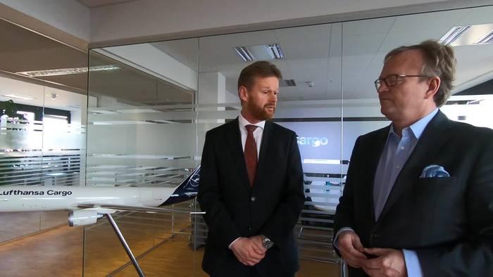 News video: Interessanter Medientalk mit Lufthansa Cargo CEO