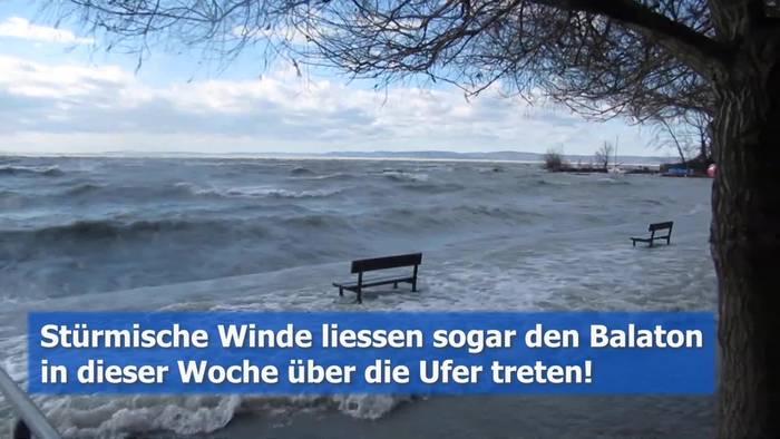 News video: Sturmflut am Plattensee!? Der Balaton bäumte sich auf