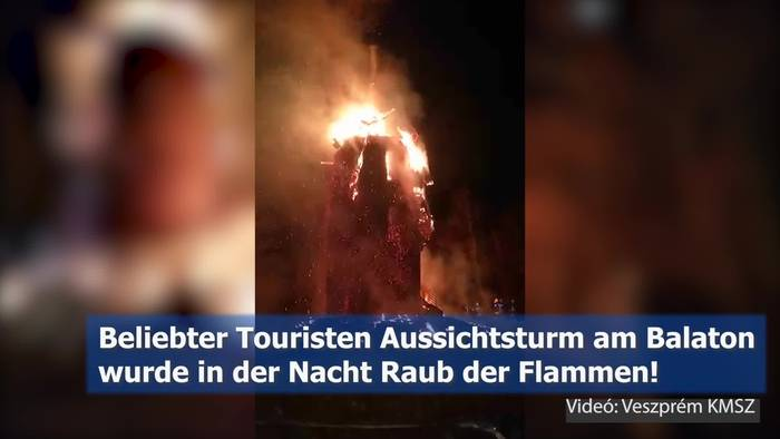 Video: Touristenziel am Balaton in Vollbrand!