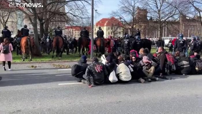 News video: Proteste gegen Neonazi-Aufmarsch in Dresden