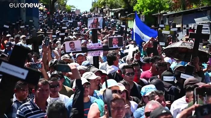News video: El Salvador: Proteste für 109-Millionen-Dollar-Darlehen gegen Maras