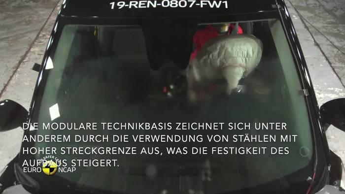 News video: Neuer Renault Captur erzielt fünf Sterne im Euro NCAP-Crashtest