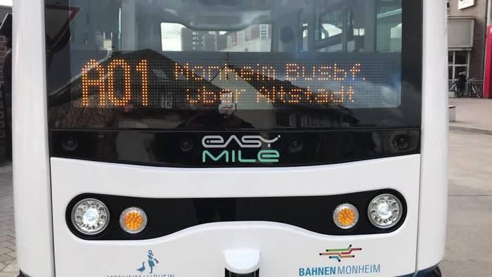 Video: NRW: Monheim stellt autonom fahrenden E-Bus vor