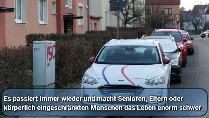 News video: Falschparker blockieren Gehwege in München