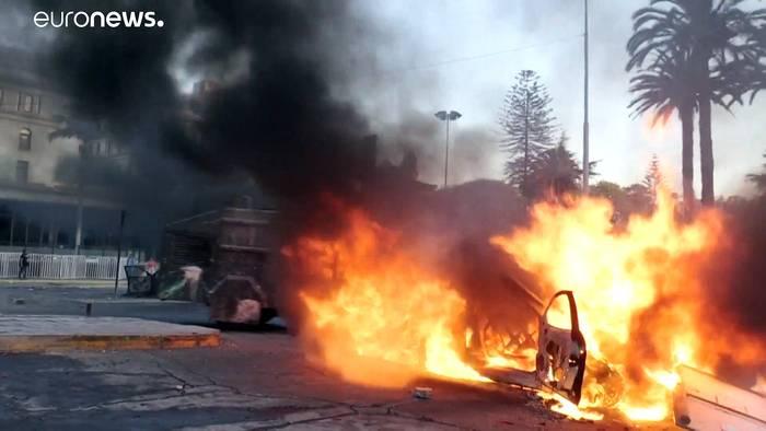 Video: Gewalt statt Gesang - Unruhen während Festival in Chile
