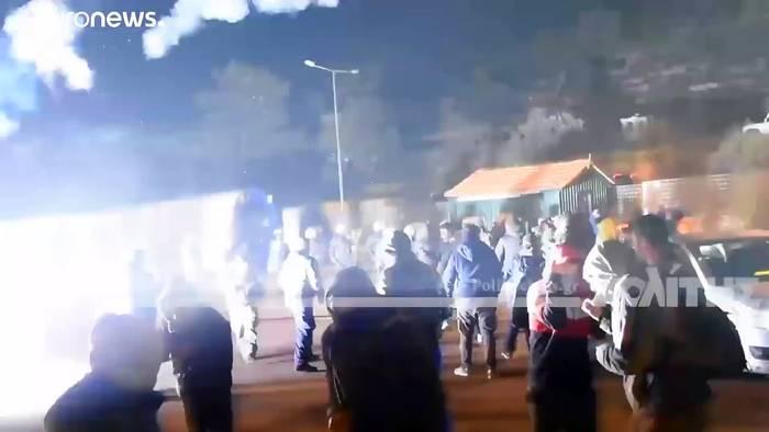 News video: Ägäis-Inseln: Randale gegen neue Migrantenlager