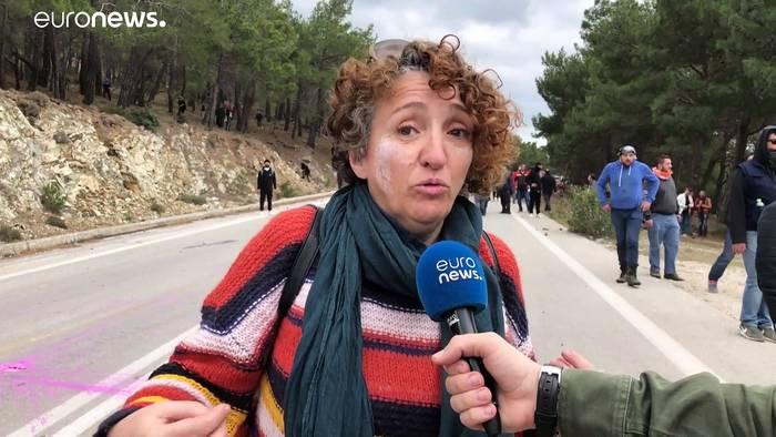 News video: Gegen Auffanglager für Flüchtlinge: Auf den griechischen Inseln kracht's