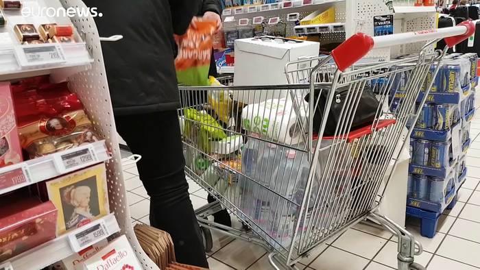 News video: Coronavirus: Leere Regale - Hamsterkäufe nicht nur in Ungarn
