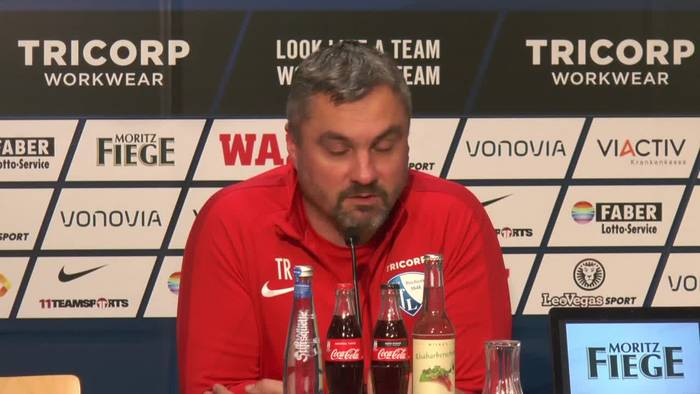 News video: Pressekonferenz: VFL Bochum vor dem Heimspiel gegen Sandhausen