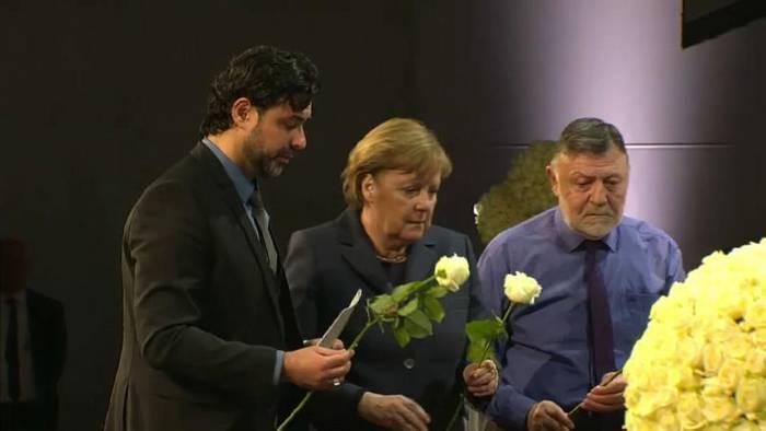 News video: Bewegende Trauerfeier für die Anschlagsopfer von Hanau
