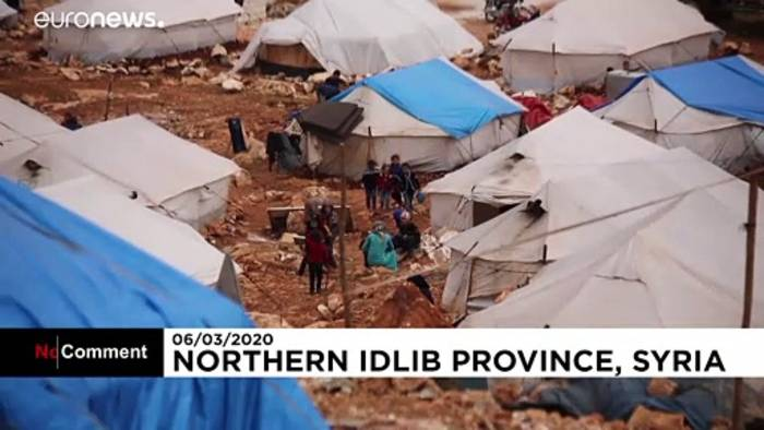 News video: Eindrücke aus einem Flüchtlingslager in der Provinz Idlib