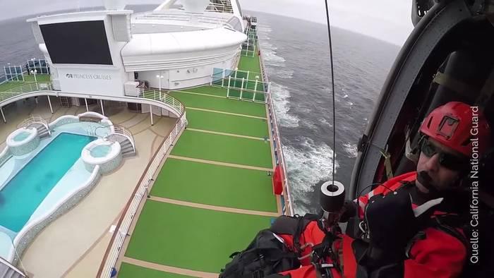 News video: Coronavirus: Testkits per Hubschrauber auf Kreuzfahrtschiff