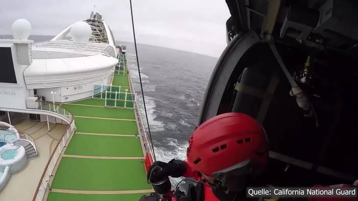 News video: Spektakuläre Aktion: Coronavirus Testkits per Helikopter auf Kreuzfahrtschiff!