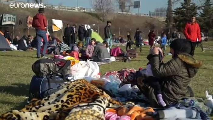 News video: Migrantenkrise in der Türkei - Tausende versuchen die Grenze zu erreichen