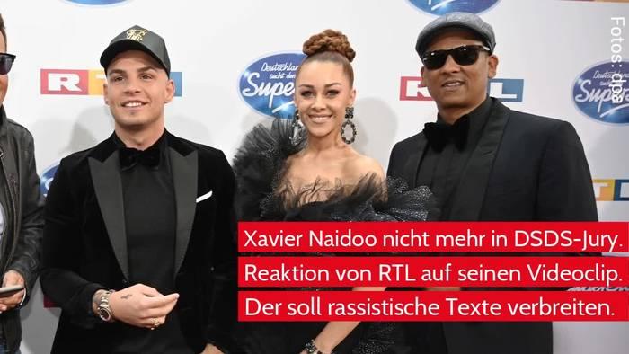News video: Vorwurf Rassismus - RTL lässt Xavier Naidoo nicht länger in DSDS-Jury