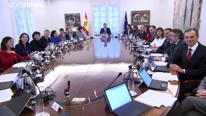 News video: Spanien: König und Kabinett machen Test