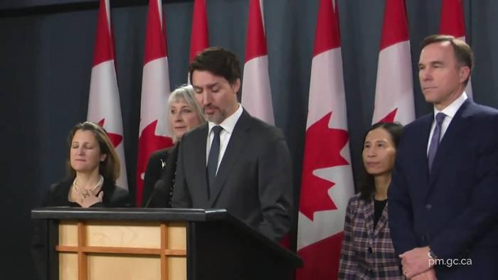 News video: Frau von Kanadas Premier positiv auf Coronavirus getestet