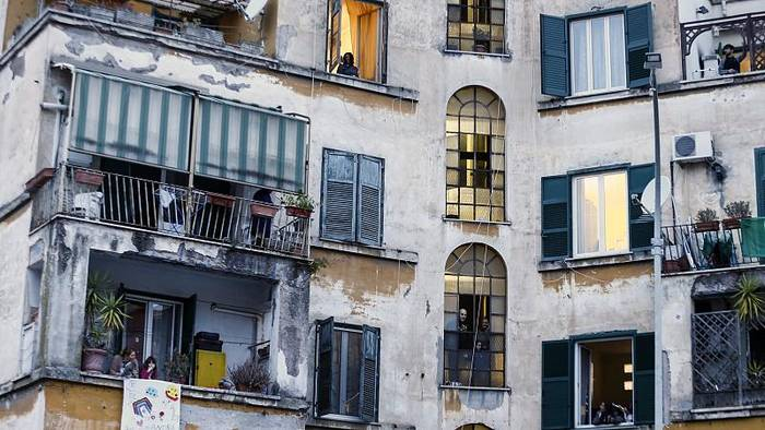 Italien Musik Auf Balkonen